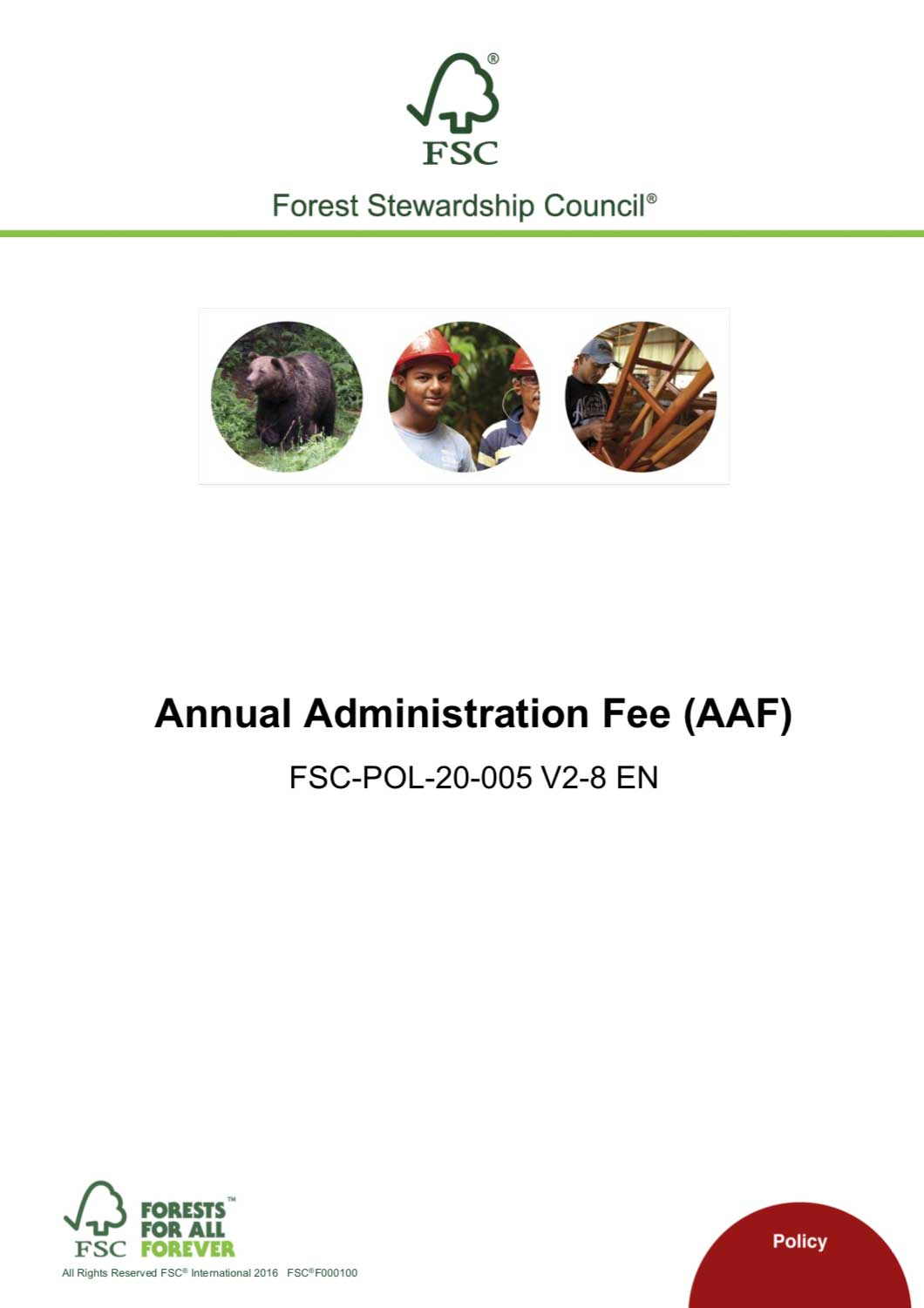 FSC AAF Policy v2 8 cover
